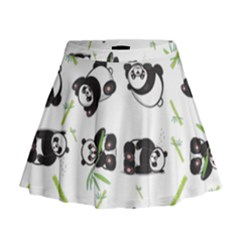Panda Tile Cute Pattern Mini Flare Skirt