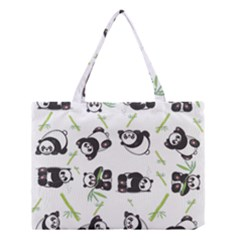 Panda Tile Cute Pattern Medium Tote Bag