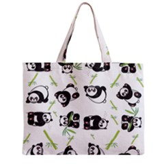 Panda Tile Cute Pattern Medium Zipper Tote Bag
