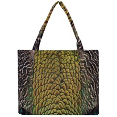 Colorful Iridescent Feather Bird Color Peacock Mini Tote Bag