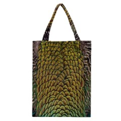 Colorful Iridescent Feather Bird Color Peacock Classic Tote Bag