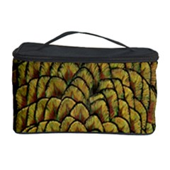 Colorful Iridescent Feather Bird Color Peacock Cosmetic Storage Case