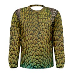 Colorful Iridescent Feather Bird Color Peacock Men s Long Sleeve Tee