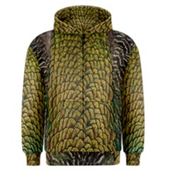 Colorful Iridescent Feather Bird Color Peacock Men s Zipper Hoodie