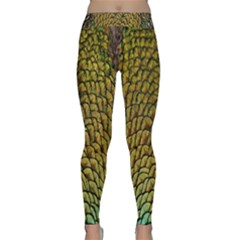 Colorful Iridescent Feather Bird Color Peacock Classic Yoga Leggings