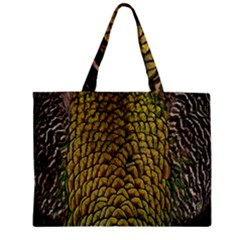 Colorful Iridescent Feather Bird Color Peacock Zipper Mini Tote Bag