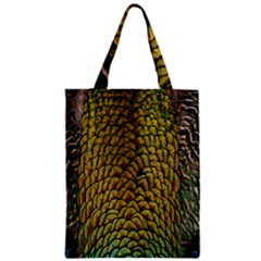 Colorful Iridescent Feather Bird Color Peacock Zipper Classic Tote Bag