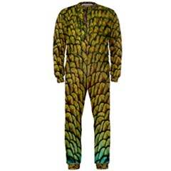 Colorful Iridescent Feather Bird Color Peacock Onepiece Jumpsuit (men)