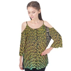 Colorful Iridescent Feather Bird Color Peacock Flutter Tees