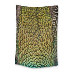 Colorful Iridescent Feather Bird Color Peacock Small Tapestry