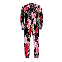 Flower Arrangements Season Rose Butterfly Floral Pink Red Yellow Onepiece Jumpsuit (kids)