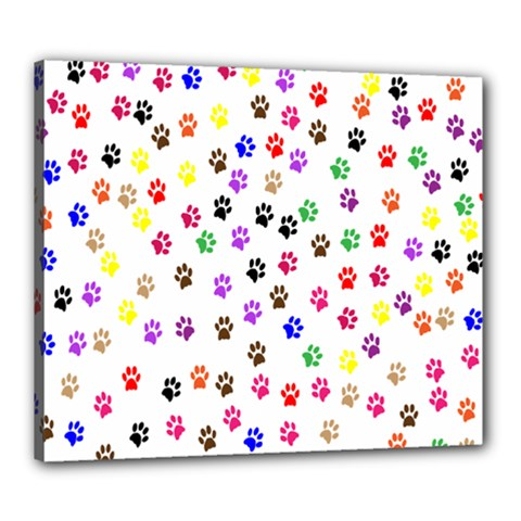 Paw Prints Background Canvas 24  X 20