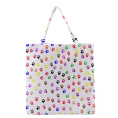 Paw Prints Background Grocery Tote Bag