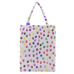Paw Prints Background Classic Tote Bag