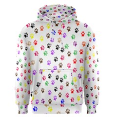 Paw Prints Background Men s Pullover Hoodie