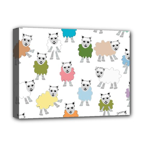 Sheep Cartoon Colorful Deluxe Canvas 16  X 12