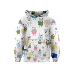 Sheep Cartoon Colorful Kids  Pullover Hoodie