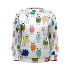 Sheep Cartoon Colorful Women s Sweatshirt