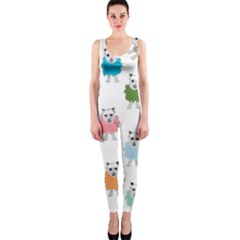 Sheep Cartoon Colorful OnePiece Catsuit