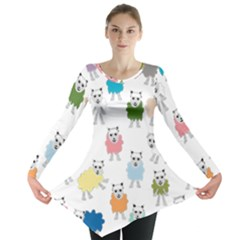 Sheep Cartoon Colorful Long Sleeve Tunic