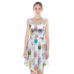Sheep Cartoon Colorful Racerback Midi Dress