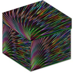 Texture Colorful Abstract Pattern Storage Stool 12