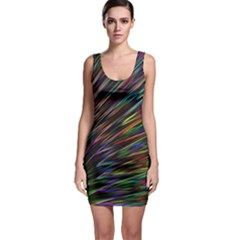 Texture Colorful Abstract Pattern Sleeveless Bodycon Dress