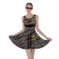 Texture Colorful Abstract Pattern Skater Dress