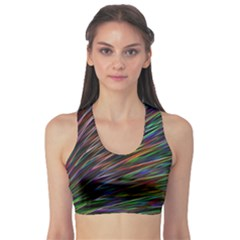 Texture Colorful Abstract Pattern Sports Bra