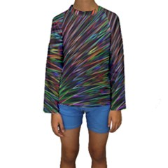 Texture Colorful Abstract Pattern Kids  Long Sleeve Swimwear