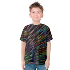 Texture Colorful Abstract Pattern Kids  Cotton Tee