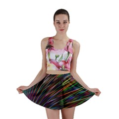 Texture Colorful Abstract Pattern Mini Skirt