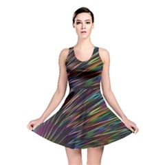 Texture Colorful Abstract Pattern Reversible Skater Dress