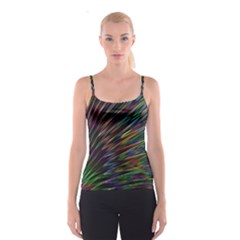 Texture Colorful Abstract Pattern Spaghetti Strap Top