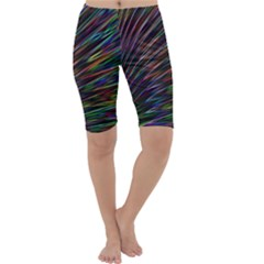 Texture Colorful Abstract Pattern Cropped Leggings