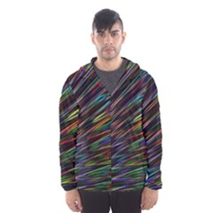 Texture Colorful Abstract Pattern Hooded Wind Breaker (men)