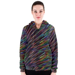 Texture Colorful Abstract Pattern Women s Zipper Hoodie