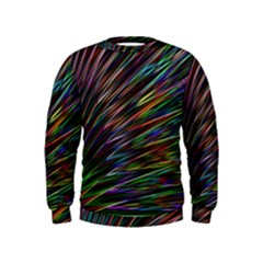 Texture Colorful Abstract Pattern Kids  Sweatshirt