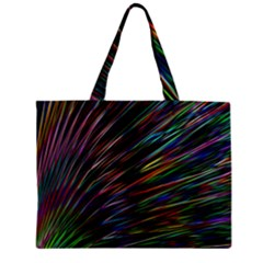 Texture Colorful Abstract Pattern Zipper Mini Tote Bag