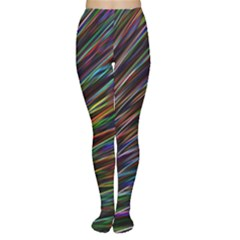 Texture Colorful Abstract Pattern Women s Tights