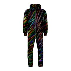 Texture Colorful Abstract Pattern Hooded Jumpsuit (Kids)