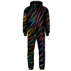 Texture Colorful Abstract Pattern Hooded Jumpsuit (men)