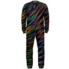 Texture Colorful Abstract Pattern Onepiece Jumpsuit (men)