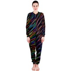 Texture Colorful Abstract Pattern Onepiece Jumpsuit (ladies)