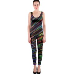 Texture Colorful Abstract Pattern Onepiece Catsuit