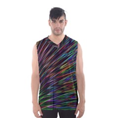 Texture Colorful Abstract Pattern Men s Basketball Tank Top