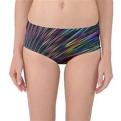 Texture Colorful Abstract Pattern Mid Waist Bikini Bottoms