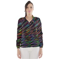 Texture Colorful Abstract Pattern Wind Breaker (Women)