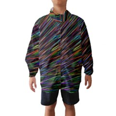 Texture Colorful Abstract Pattern Wind Breaker (kids)