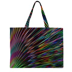 Texture Colorful Abstract Pattern Large Tote Bag